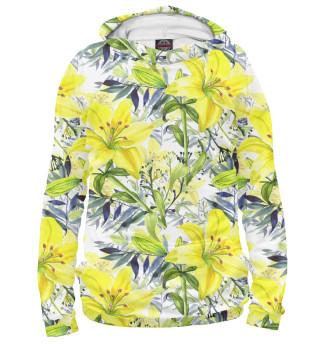 Худи для мальчиков Жёлтые лилии