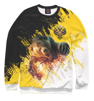 Одежда с принтом Имперский флаг и медведь