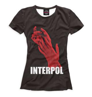 Футболка женская Interpol (3581)