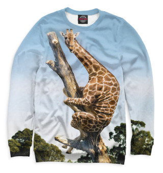 Одежда с принтом Жираф на дереве