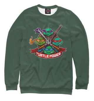 Одежда с принтом Turtle Power