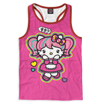 Майка борцовка мужская Hello Kitty (9646)