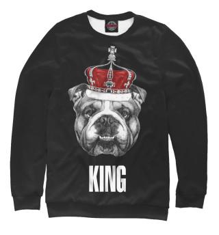 Одежда с принтом Английский бульдог с короной