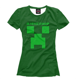 Футболка женская Александр Minecraft