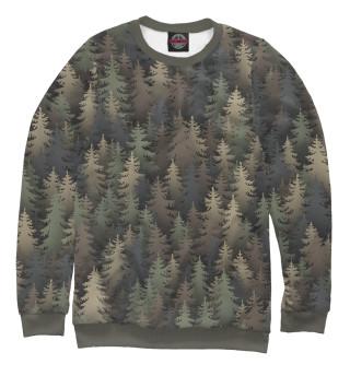Одежда с принтом Лесной камуфляж
