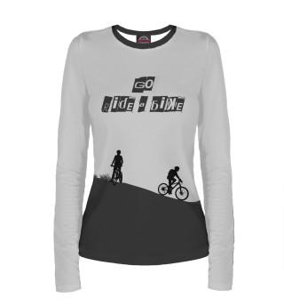 Лонгслив  женский Велосипед