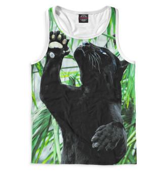 Майка борцовка мужская Чёрная пантера