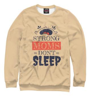 Одежда с принтом Сильные мамы не спят