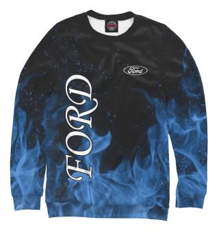 Одежда с принтом Ford blue fire
