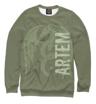 Одежда с принтом Артем и дракон