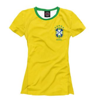 Футболка женская Форма Сборной Бразилии 2018