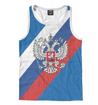 Майка борцовка мужская Герб РФ (5707)