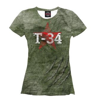 Футболка женская Броня Т-34