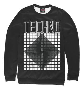 Одежда с принтом Techno spiral