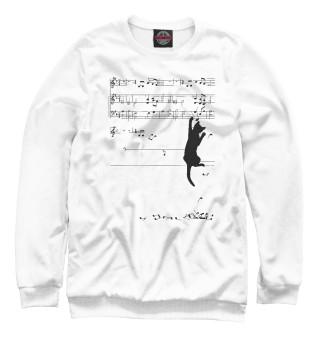 Одежда с принтом Music cat