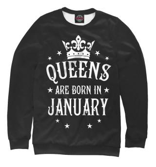 Одежда с принтом Королевы рождаются в январе (488563)