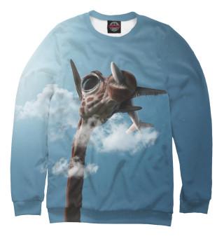 Одежда с принтом Жираф и самолет