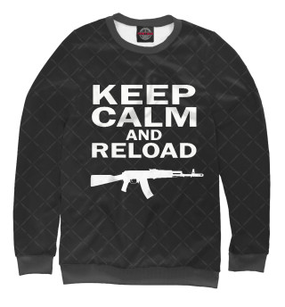 Одежда с принтом Keep calm and reload