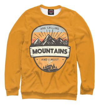 Одежда с принтом Горы