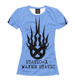 Футболка женская Static-X   Wayne Static Blue