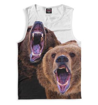 Майка мужская Медведи
