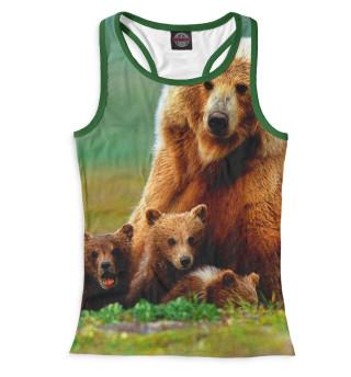Майка борцовка женская Медведица и медвежата