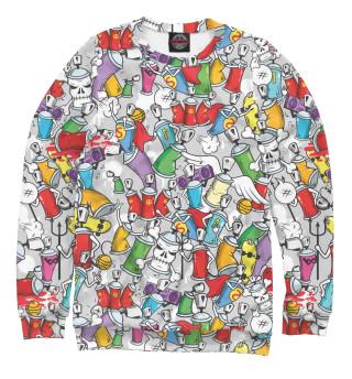 Одежда с принтом Граффити с красками