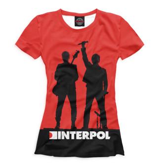 Футболка женская Interpol (8712)