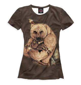 Футболка женская Медведь (6417)