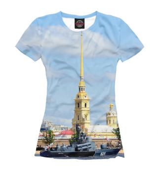 Футболка женская Петропавловская крепость
