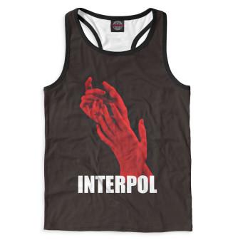 Майка борцовка мужская Interpol (8258)