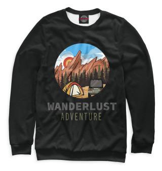 Одежда с принтом Wanderlust adventure