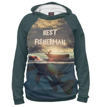 Худи женское Лучший рыбак