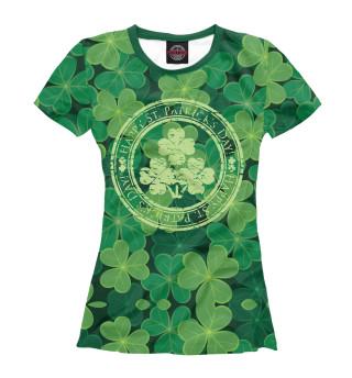 Футболка женская Ireland, Happy St. Patrick's Day