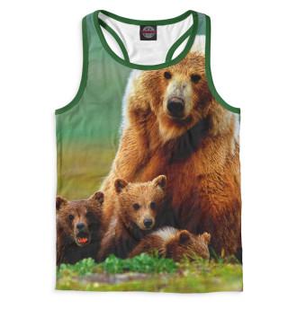 Майка борцовка мужская Медведица и медвежата