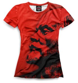Футболка женская Ленин (6163)
