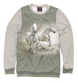 Одежда с принтом Пара лошадей