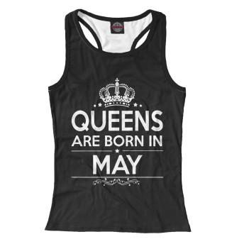 Майка борцовка женская Королевы рождаются в мае (6793)
