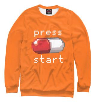 Одежда с принтом Press start (556727)