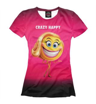 Футболка женская Crazy Happy