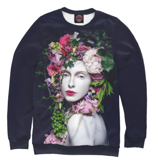 Одежда с принтом Девушка в цветах