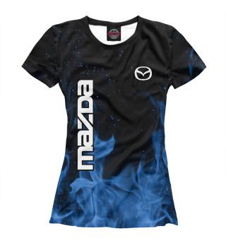 Футболка женская Mazda blue fire
