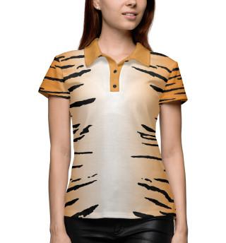 Поло женское Тигриная шкура