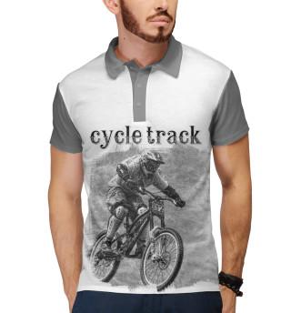 Поло мужское Велосипедист