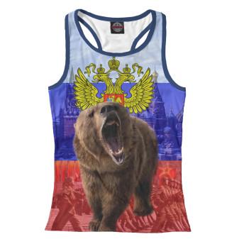 Майка борцовка женская Русский медведь (7525)