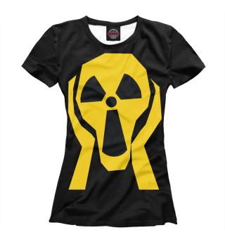 Футболка женская Радиация: Крик