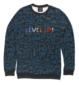 Одежда с принтом Level up!