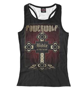 Майка борцовка женская Powerwolf (666)
