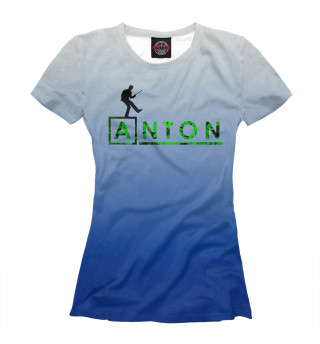 Футболка женская Антон в стиле Доктор Хаус