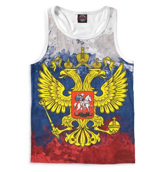 Майка борцовка мужская Триколор и герб